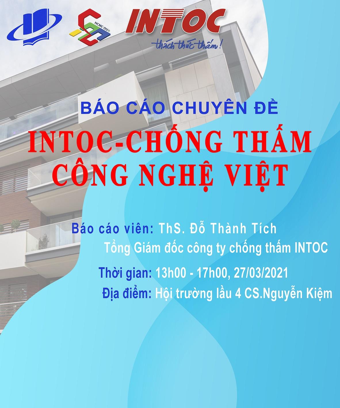 Báo cáo chuyên đề INTOC-Chống thấm công nghệ Việt